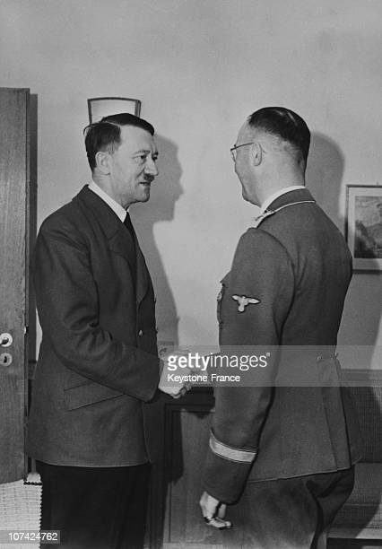Hitler And Heinrich Himmler In Germany On October 10Th 1941