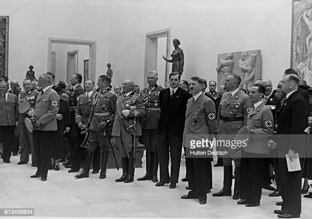 Hitler and Nazi Officers in Art Gallery