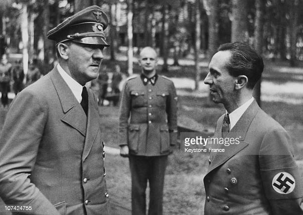 Hitler And The Reichminister Dr Goebbels At Headquarters In Germany