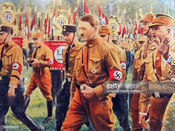 Hitler at a Nazi rally in Braunschweig 1931