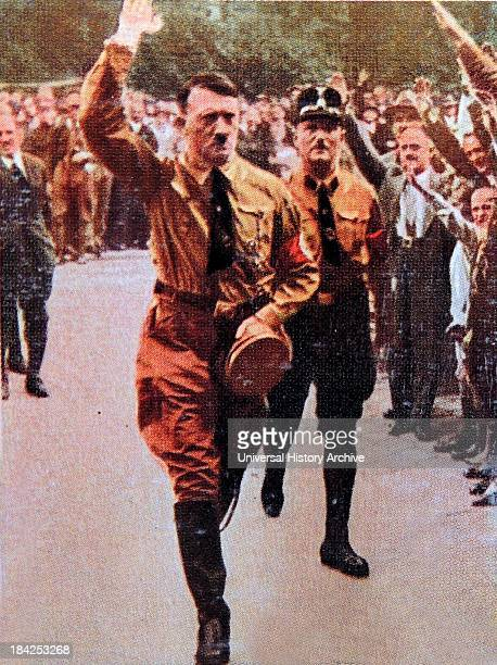 Hitler attends a Nazi Rally in Nuremberg Germany 1929