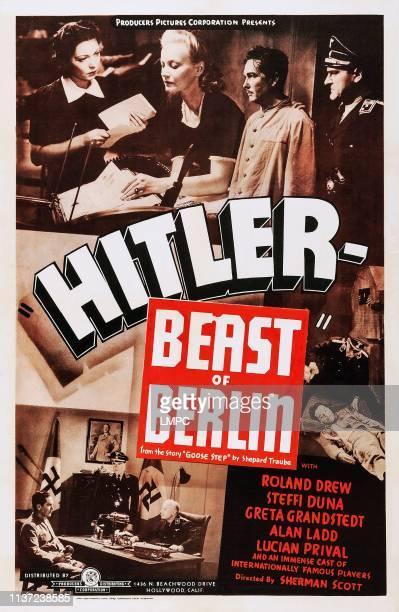 Hitler - Beast Of Berlin, poster, , US poster art, Steffi Duna, , Roland Drew, , 1939.