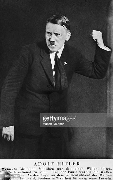 Hitler Clenching Fist During a Tirade Against Marxism