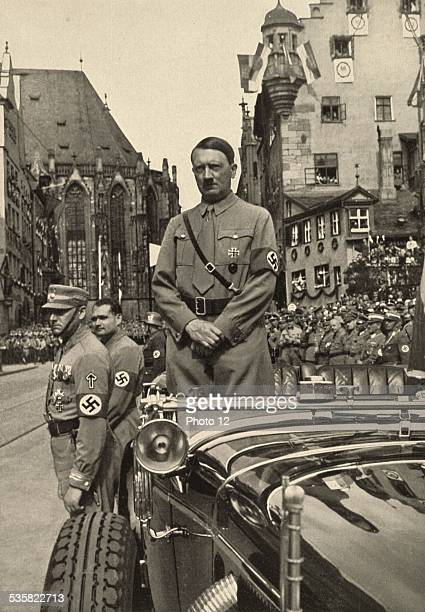 Hitler during the Liberty Congress waiting for the Brown Shirts' parade Weimar Republic