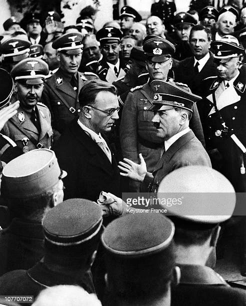 Hitler In Discussion With The SeyssInquart After Anchluss Vienna 16 Mars 1938
