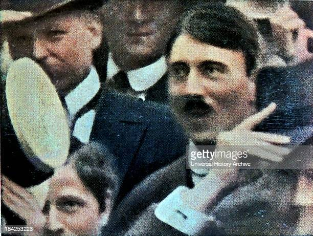 Hitler photographed in a crowd listening to Austria's declaration of war in August 1914 Vienna
