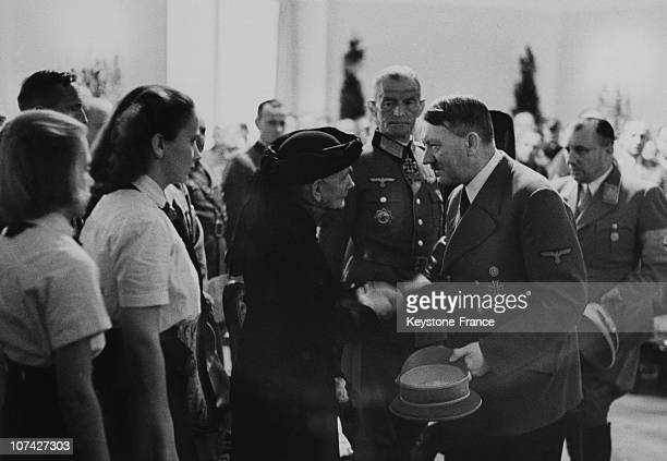 Hitler Presenting His Condolences To The Mother Of Dietl In Germany On July 4Th 1944