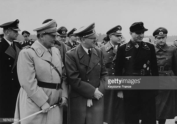 Hitler S Birthday The Fuhrer With The Reich Marshal Goring And Admiral Donitz In Germany On April 20Th 1944