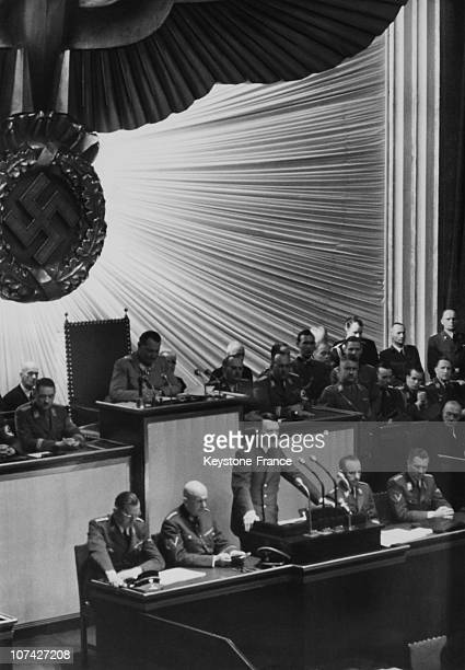 Hitler Speech About German People In Reich Assembly On April 26Th 1942