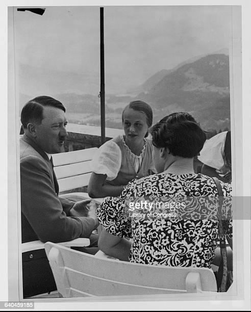 Hitler Talking to Two Women
