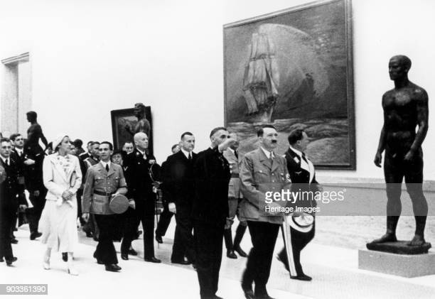 Hitler Visiting the Great German Art Exhibition Private Collection