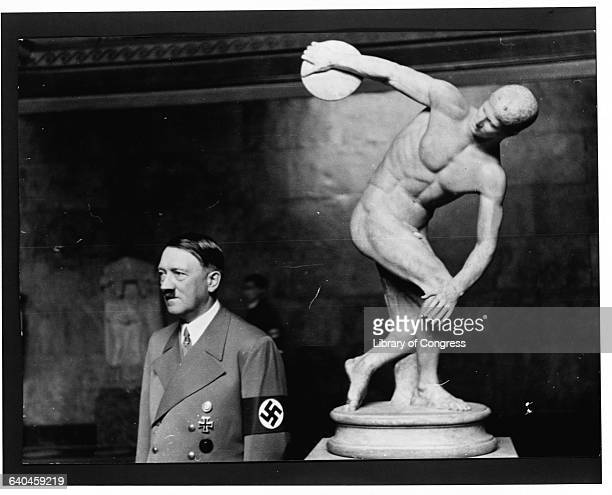 Hitler with a Statue of a Discus Thrower