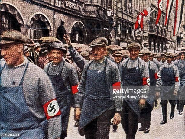 Hitler youth at a countryside rally or youth camp 193033