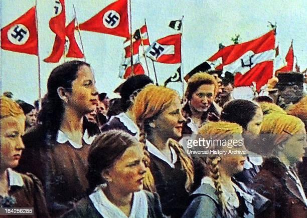 Hitler youth at a rally Germany circa 1934