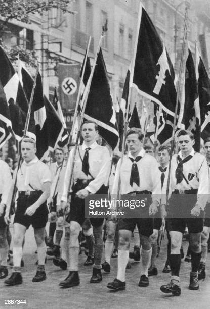 Hitler Youth march, from 'Deutschland Erwacht', a history of the Nazi party from 1920 to 1933.