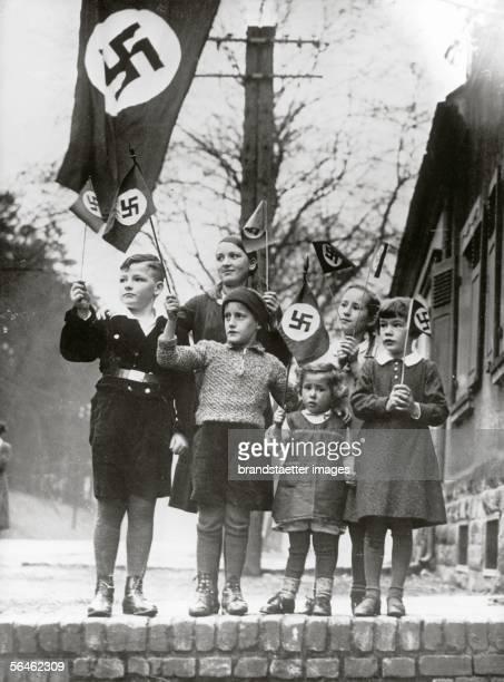 Hitlerjugend in Saarbruecken. Saarland. Germany. Photography. Before 1935. [Hitlerjugend in Saarbruecken. Saarland. Deutschland. Photographie. Vor...