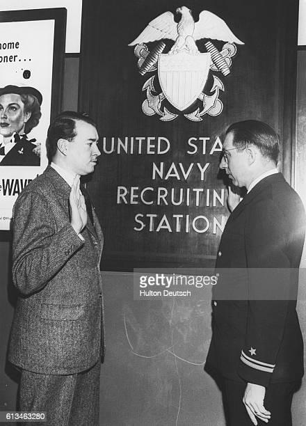 Hitler's Nephew Sworn Into U.S. Navy.