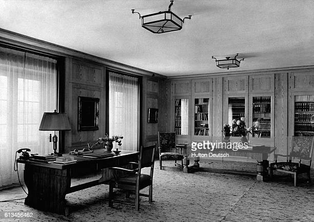Hitler's study at his retreat in Berghof | Location Near Berchtesgaden Nazi Germany