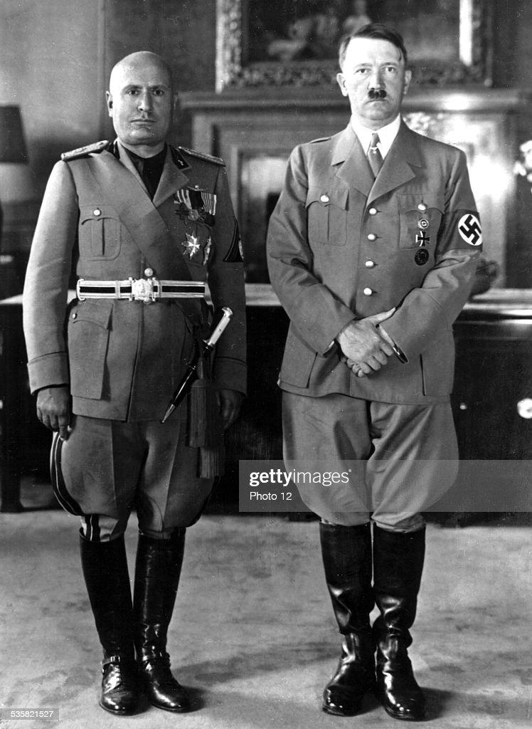 May 4, 1938, Hitler and Mussolini in Rome : Fotografía de noticias