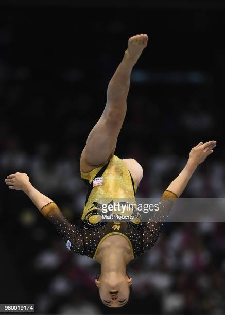 Hitomi Hatakeda of Japan competes on the Beam during day one of the 57th Artistic Gymnastics NHK Trophy at the Tokyo Metropolitan Gymnasium on May 19...