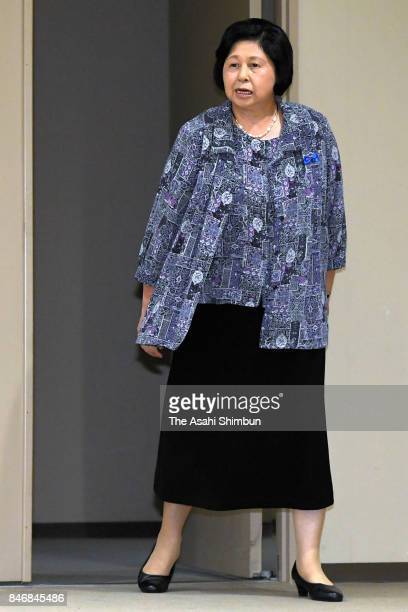 Hitomi Soga who was abducted to North Korea in 1978 and spent 24 years there attends a press conference ahead of the 15th anniversary of her and 4...