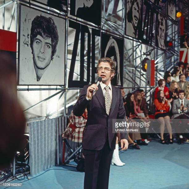 Hitparade, Musiksendung, Deutschland 1969 - 2000, Moderator Dieter Thomas Heck.