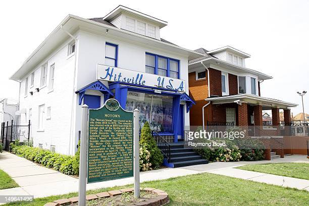 Hitsville USA original home of Motown Records and the Motown Museum in Detroit Michigan on JULY 22 2012