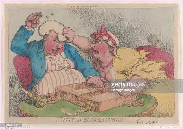 Hitt at Backgammon, November 9, 1810. Artist Thomas Rowlandson.