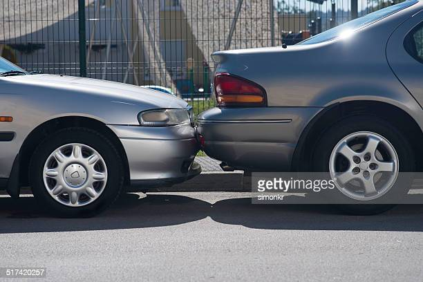 hitting a parked car - car park stock pictures, royalty-free photos & images