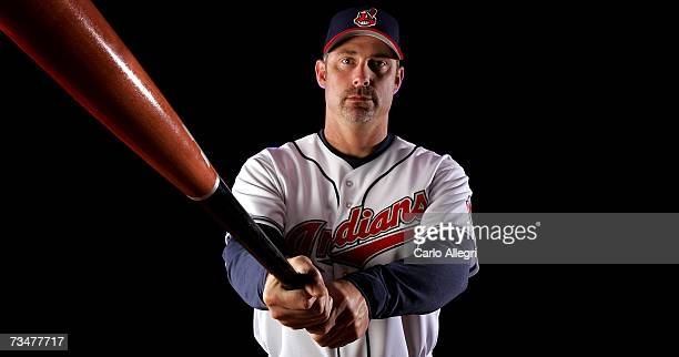 Hitting coach Derek Shelton of the Cleveland Indians poses for a portrait during the Cleveland Indians photo day on February 27 2007 at Chain of...