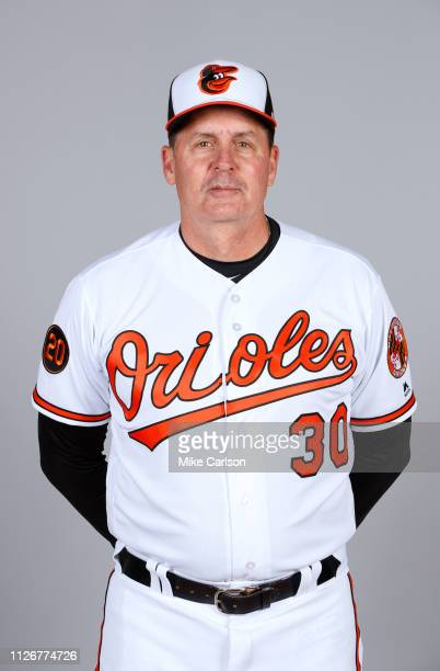 Hitting Coach Don Long of the Baltimore Orioles poses during Photo Day on Wednesday February 20 2019 at Ed Smith Stadium in Sarasota Florida
