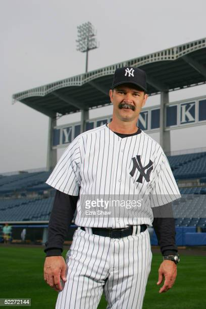 Hitting Coach Don Mattingly of the New York Yankees poses for a portrait during Yankees Photo Day at Legends Field on February 25 2005 in Tampa...