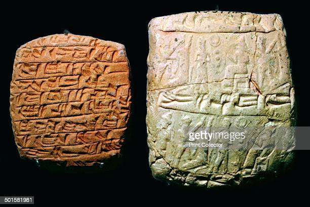 Hittite clay tablet and envelope The letter is from Ena Suin for Laqidim and ShamashDamho