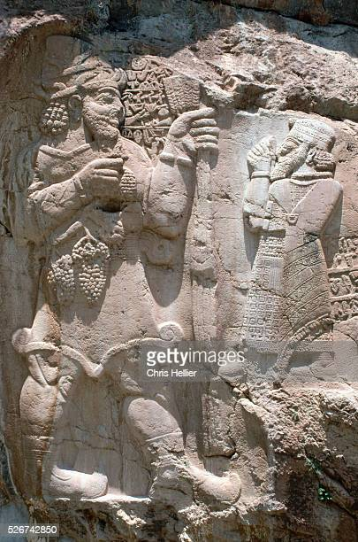 Hittite Relief Sculpture of God Tarhu and King Warpalawas