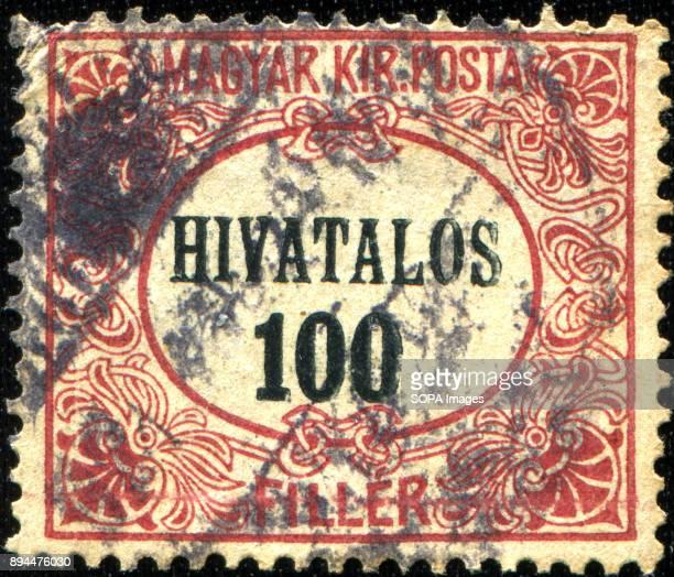 100 hivatalos stamp printed in Hungary 1922