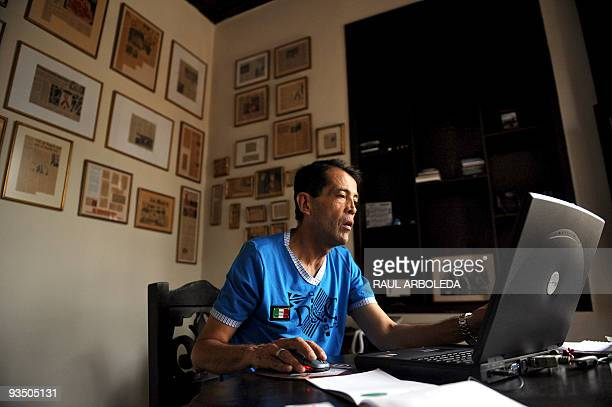 HIVinfected Mariano Roldan works on his computer at his house in Medellin Antioquia department Colombia on November 27 2009 Roldan was diagnosed HIV...