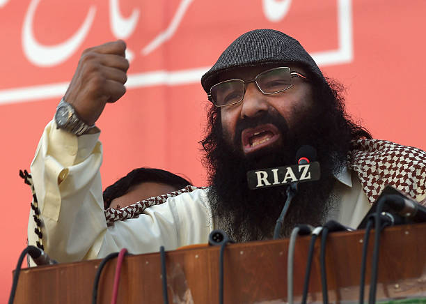 Hizbul Mujahideen chief Syed Salahuddin addresses a protest rally against the killings in Indianadministered Kashmir in Lahore on July 31 2016 More...