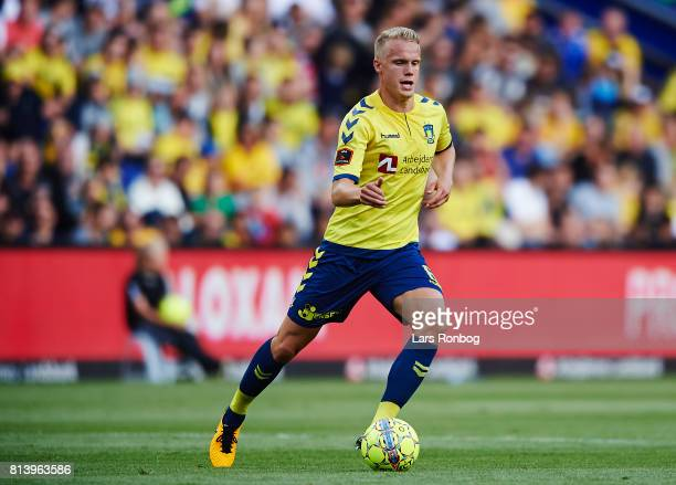 Hjortur Hermannsson of Brondby IF in action during the UEFA Europa League Qualification match between Brondby IF and VPS Vaasa at Brondby Stadion on...