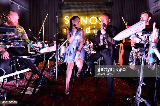 Hkan Wirenstrand Yukimi Nagano KCRW's Jason Bentley and Fredrik Kllgren Wallin attend KCRW's taping of Morning Becomes Eclectic with Little Dragon at...