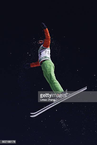 Hladchenko Stanislau of Belarus competes in the Team Aerials Final match on day two of the 20152016 FIS Freestyle Ski Aerials World Cup at Beijing...