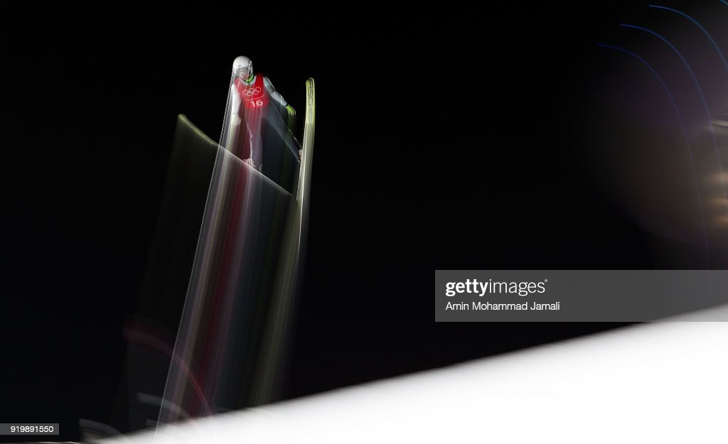 Hlava Lukas of Czech Republic makes a jump during the Ski Jumping - Men's Large Hill on day nine of the PyeongChang 2018 Winter Olympic Games at Alpensia Ski Jumping Center on February 18, 2018 in Pyeongchang-gun, South Korea.