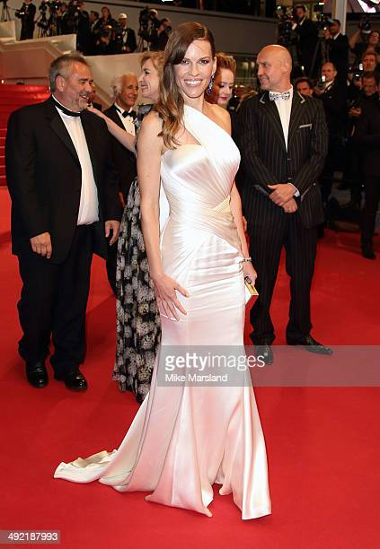 Hliary Swank attends 'The Homesman' Premiere at the 67th Annual Cannes Film Festival on May 18 2014 in Cannes France