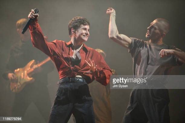 Héloïse Letissier of Christine and the Queens performs live on stage during day five of Glastonbury Festival at Worthy Farm Pilton on June 30 2019 in...