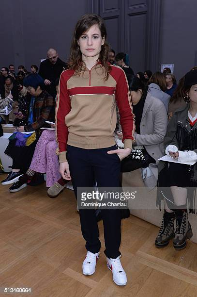 Héloïse Letissier singer of Christine and the Queens attends the Chloe show as part of the Paris Fashion Week Womenswear Fall/Winter 2016/2017 on...