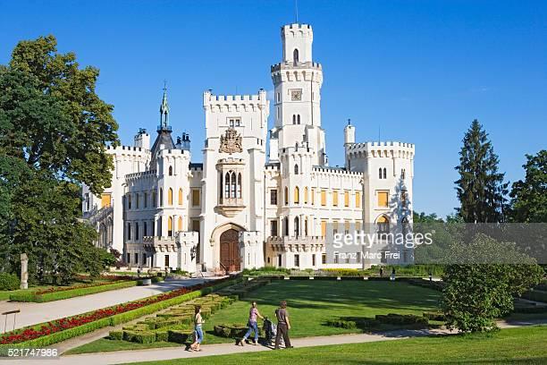 hluboka nad vltavou castle - czech republic stock pictures, royalty-free photos & images