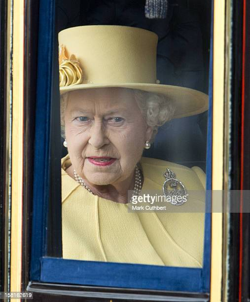 Hm Queen Elizabeth Ll During Trooping The Colour In London.