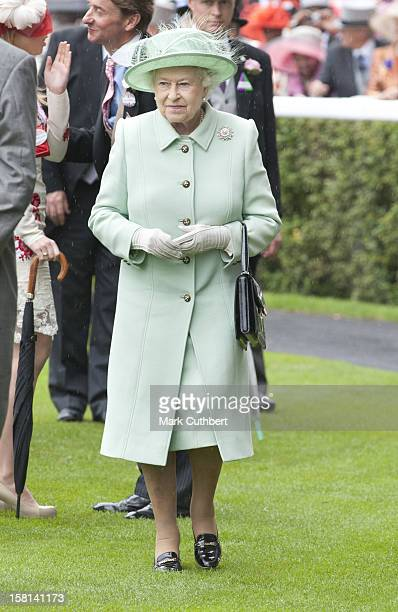 Hm Queen Elizabeth Ll On The Third Day Of Royal Ascot