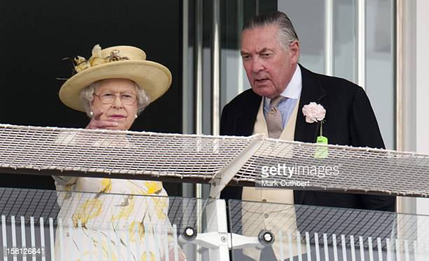 Hm Queen With Lord Vestey At The Investec Derby Day At Epsom.