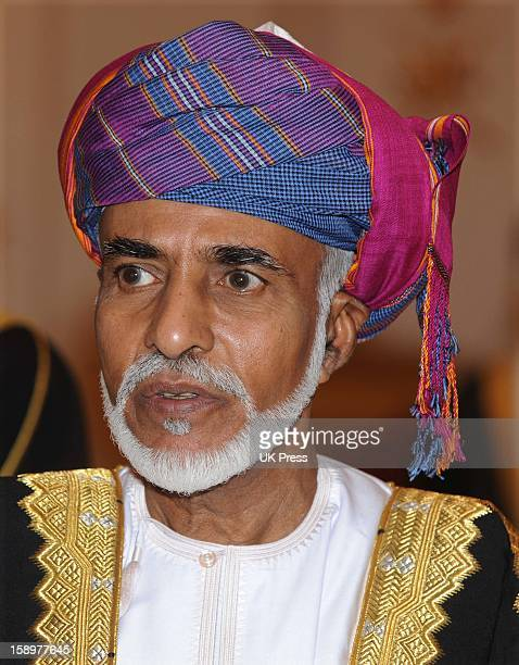 Hm Sultan Qaboos Bin Said During The State Visit To Muscat Oman