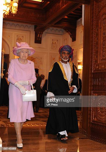 Hm The Queen And Duke Of Edinburgh At The Al Alam Palace In Oman For The Official Welcome A Traditional Coffee Ceremony And View Of A Tate...